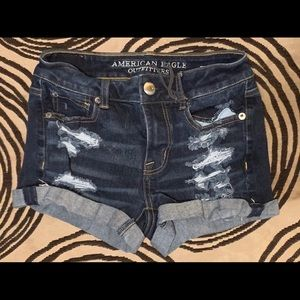 American Eagle Hi-Rise Shortie Size 0